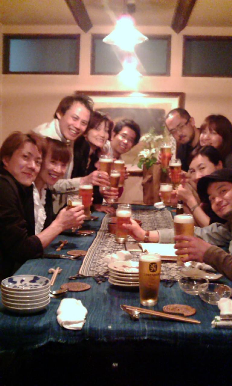 乾杯〜っ!